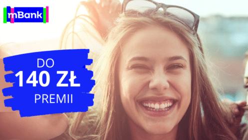 mBank: otwórz eKonto możliwości i zyskaj do 140 zł premii! [dla osób od 18 do 24 lat]
