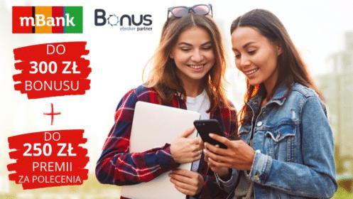 mBank: otwórz eKonto i zyskaj do 300 zł bonusu oraz do 250 zł premii za polecenia