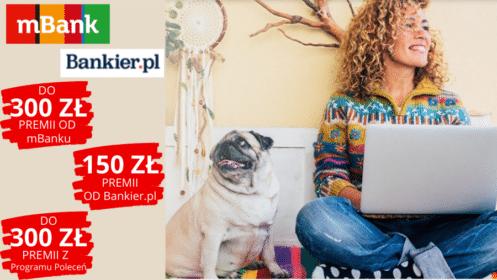 mBank+Bankier.pl: Otwórz eKonto i zyskaj do 750 zł premii! [skrócony okres karencji]