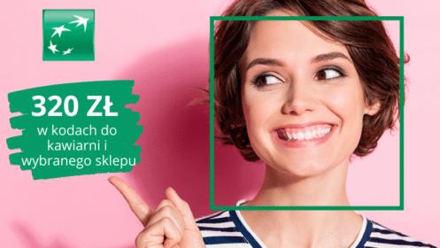 BNP Paribas: Zgarnij 320 zł w kodach do kawiarni i wybranych sklepów zKontem Otwartym na Ciebie!
