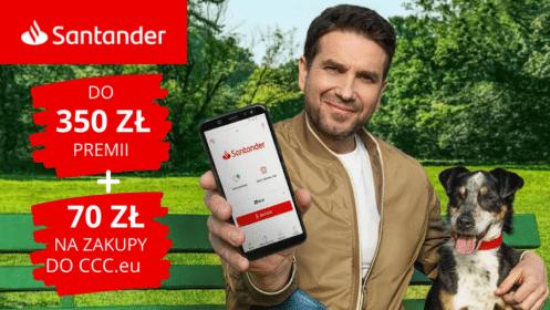 """Santander: HIT Powrócił! Zgarnij 350 zł premii z """"Kontem Jakie Chcę"""" oraz 70 zł na zakup do CCC, łącznie aż 420 zł!"""