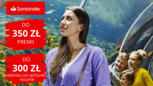 """Santander: Zgarnij 350 zł premii z """"Kontem Jakie Chcę"""" oraz do 300 zł zwrotu za rachunki rocznie!"""
