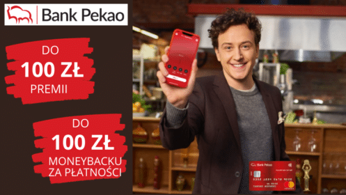 Bank Pekao: Zgarnij 100 zł premii i do 100 zł moneybacku Kontem Przekorzystnym!